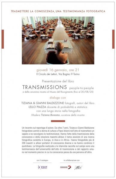 TRASMETTERE LA CONOSCENZA, UNA TESTIMONIANZA FOTOGRAFICA  Libro di Tiziana e Gianni Baldizzone al Circolo dei lettori di Torino