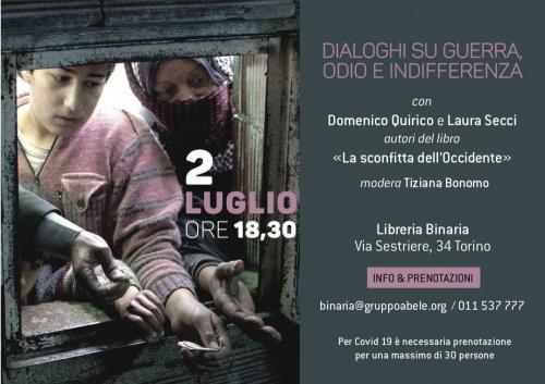 LA SCONFITTA DELL'OCCIDENTE/* Incontro con Domenico Quirico alla Libreria Binaria