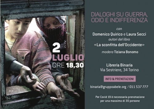 LA SCONFITTA DELL'OCCIDENTE   Incontro con Domenico Quirico alla Libreria Binaria