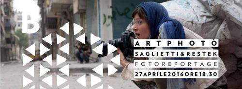 """Incontro - """"Fotografia di reportage: due fotoreporter a confronto"""" con                                                                                                                                  Ivo Saglietti e                           Andreja Restek"""
