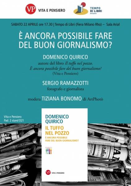 È ANCORA POSSIBILE FARE DEL BUON GIORNALISMO? ArtPhotò dialoga con Domenico Quirico e Sergio Ramazzotti