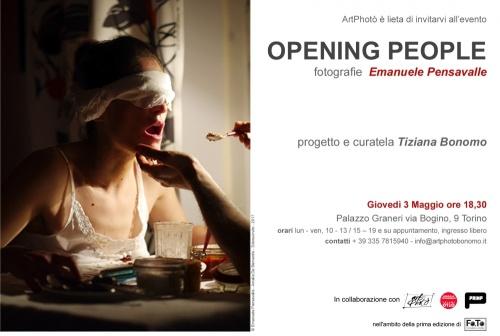 OPENING PEOPLE  Installazione Fotografica di Emanuele Pensavalle