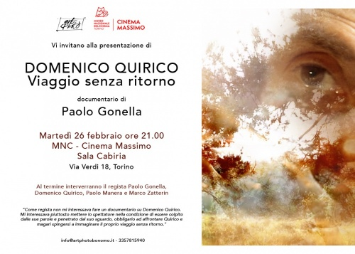 DOMENICO QUIRICO. VIAGGIO SENZA RITORNO  Documentario di Paolo Gonella al Museo Nazionale del Cinema di Torino