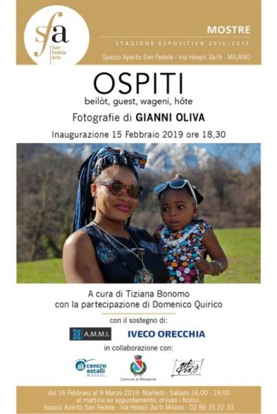 OSPITI beilòt, guest, wageni, hôte  Fotografie di Gianni Oliva allo Spazio San Fedele di Milano