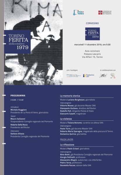 TORINO FERITA 11DICEMBRE1979 Convegno a Palazzo Lascaris