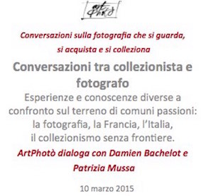 """Tavola rotonda - """"Conversazioni tra collezionista e fotografo"""""""