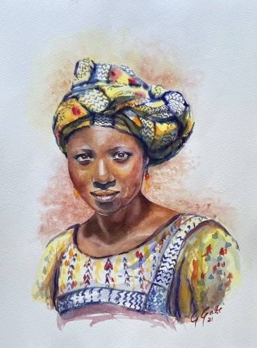 Colours of Africa  - watercolour on paper 31 x 41 cm