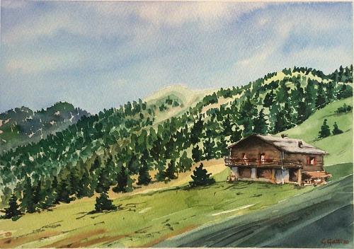 Val di Fassa - Dolomiti - Watercolour on paper 26x36 cm