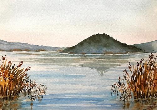 Lake Vico - Lago di Vico - Lazio - Watercolour on paper 26x36 cm